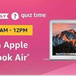 Amazon Apple MacBook Air QUiz Answers Today 14 August