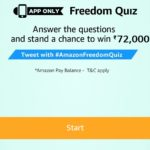 Amazon Freedom Quiz Win Rs 72000