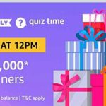 Amazon Pay Quiz Answers Today 27 August