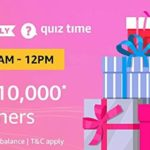 Amazon pay quiz answers win rs. 10000 30 August