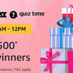 Amazon Pay Quiz 6 September win rs 500