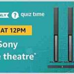 amazon sony home theatre quiz answers 10 january 2019