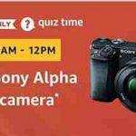 Amazon sony alpha dslr camera quiz answers