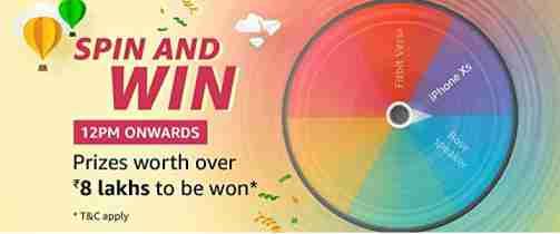 Amazon Spin And Win Contest Answers 18 January 2019 - HOTINDIA NET