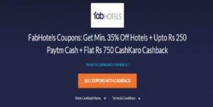 Hotel booking fan hotel free cashback CashKaro offer cashback