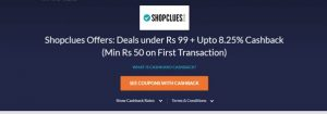 Shopclues loot deal offer CashKaro