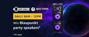 amazon blaupunkt party speakers quiz answers today win blaupunkt party speakers free from amazon
