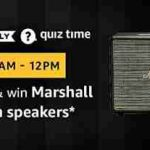 amazon quiz 19 april 2019 answer and win marshall wobern speakers today free