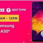 amazon samsung galaxy a50 quiz answers today 21 april