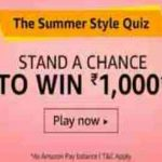 amazon summer style quiz answers today win rs 1000