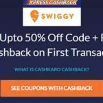 swiggy cashkaro offer get free food worth 140