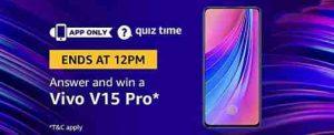 amazon vivo v15 pro quiz answers today win vivo v15 pro