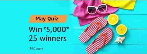 amazon may quiz answers win rs 5000