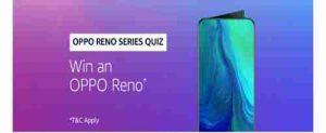 amazon oppo reno series quiz answers today answer and win oppo reno smartphone free