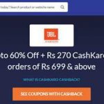 jbl offers with cashkaro get 60% off + rs 300 cashback