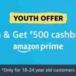 Amazon Prime Youth Offers Get Prime 1 Year For Rs 499