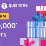 Amazon Rs 10000 Quiz Answers today win rs 10000 free