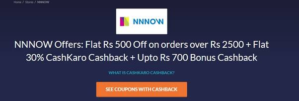 Mnnow Cashkaro offer free shirt pants from mnnow store