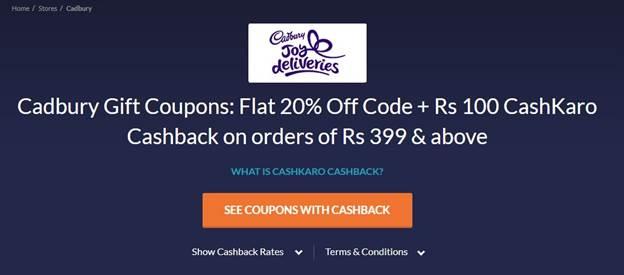 Amazon CashKaro Cadbury Offer Get At Rs 274
