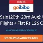Goibibo Offer with CashKaro free flight ticket offer CashKaro