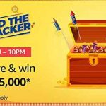 Amazon Find The Cracker Quiz Contest Answers 19th September 2019 Win Rs 125000 Today