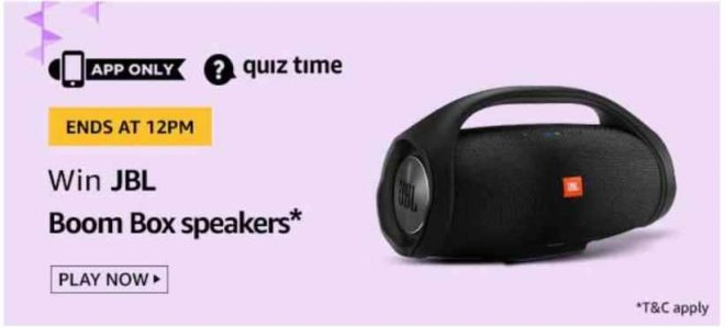 Amazon JBL Boom Box Speaker Quiz Answers Win Free JBL