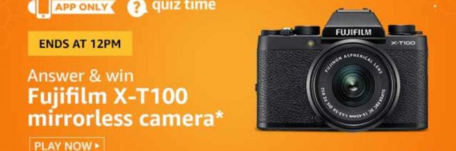Amazon Fujifilm Camera Quiz NAswers Win Free Camera