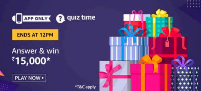 Amazon Rs 15000 Quiz Answers Win Rs 15000 Free